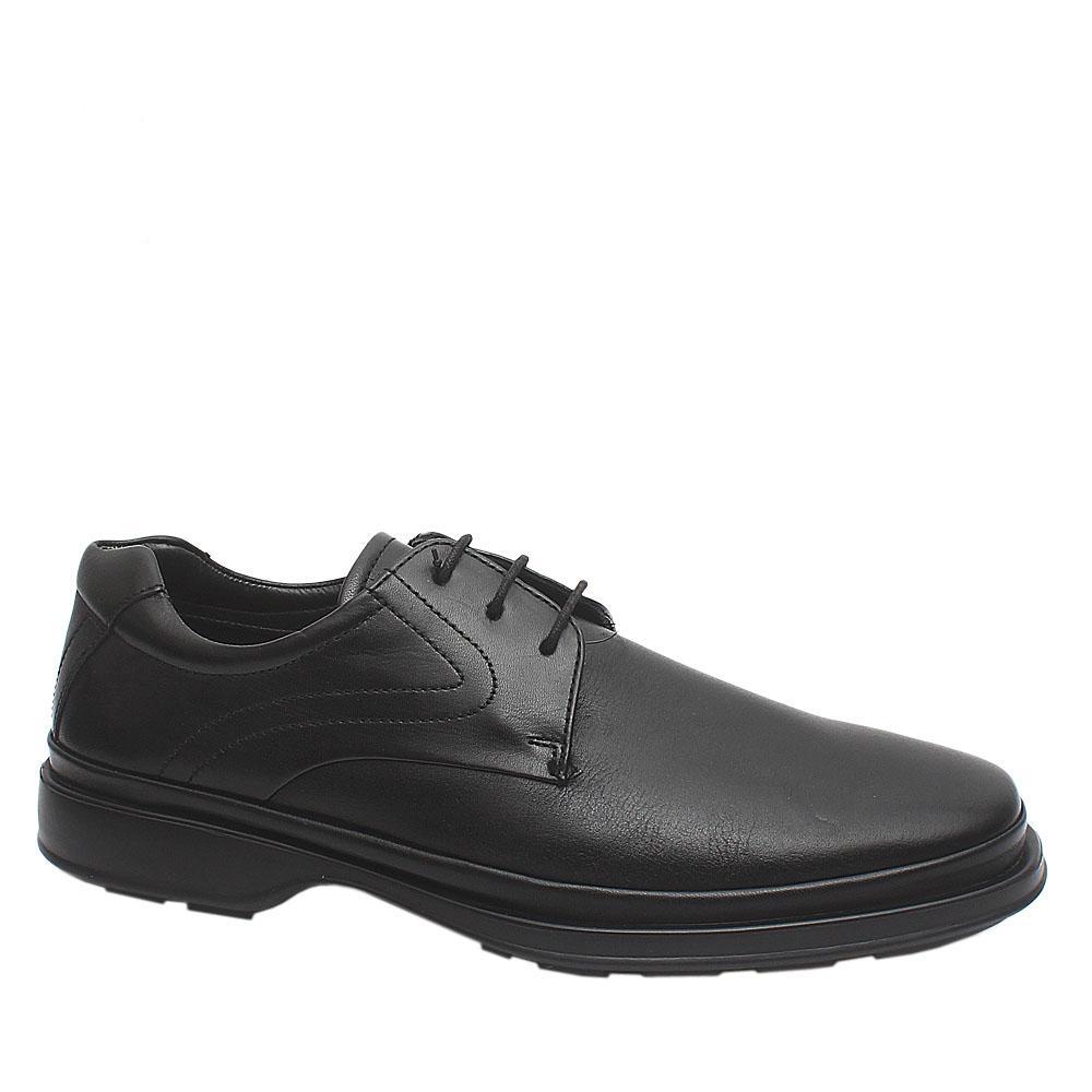 M&S Air Flex Black Premium Lace-up Leather Men Shoe