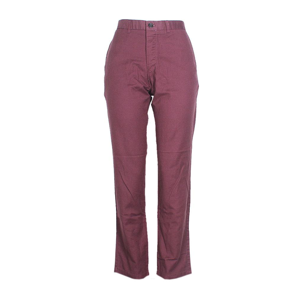 Wine Cotton Ladies Chinos Trouser-W34, L42