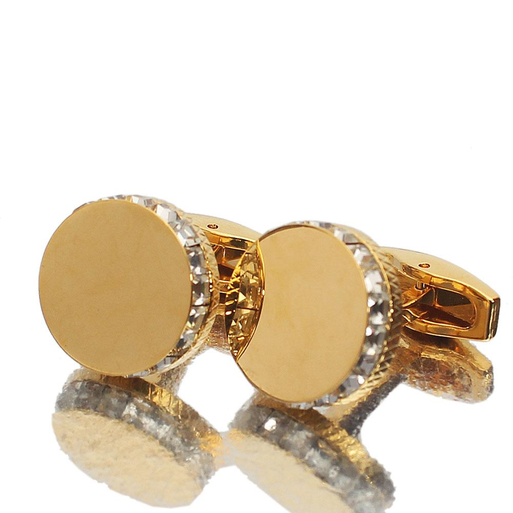 Gold Ice Stainless Steel Cufflinks
