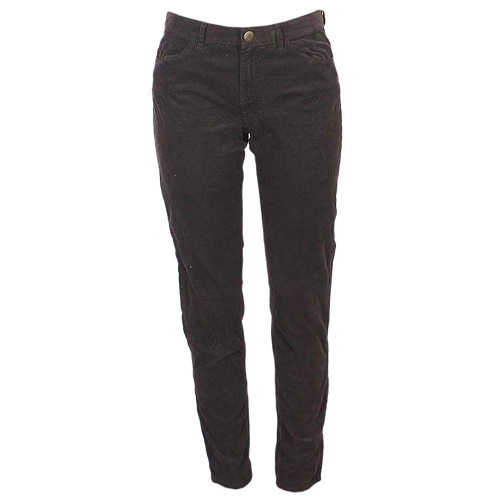 Coffee Corduroy Ladies kinny Trouser-UK12-W32-L39