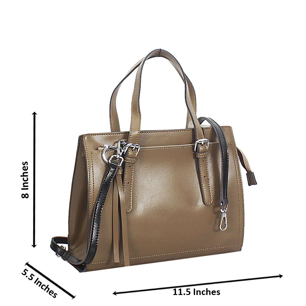Camel Laura Leather Tote Handbag