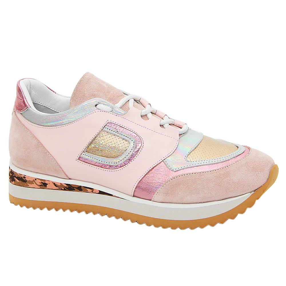 Pink Marie Tuscany Leather Ladies Sneakers
