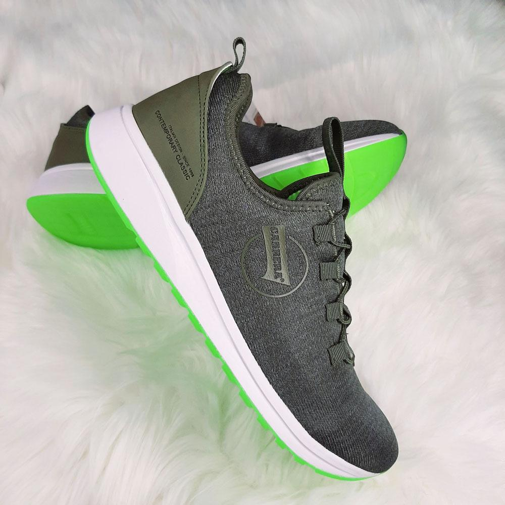Green Low Knit Fabric Breathable Sneakers