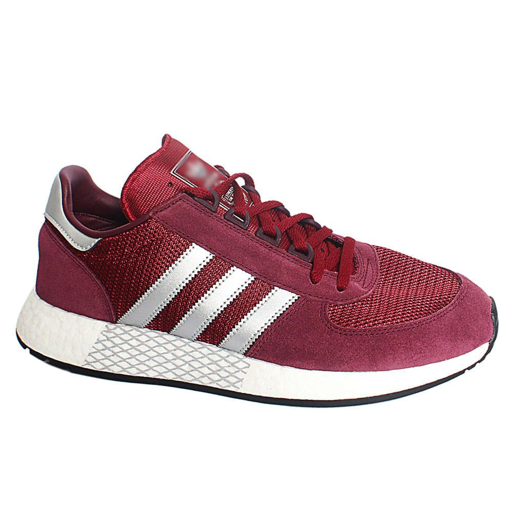 Purple Wine Marathon  Mix Fabric Suede Leather Breathable Sneakers