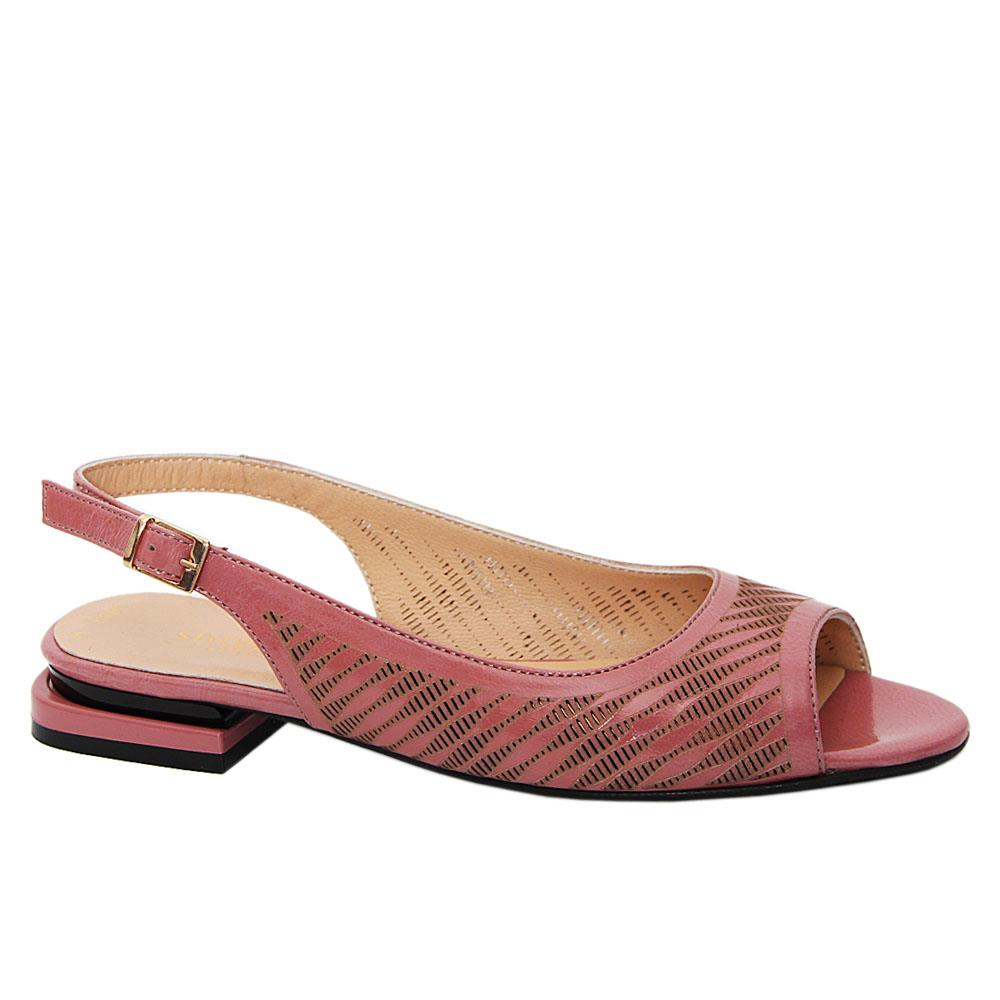 Burnt Pink Pamina Tuscany Leather Low Heel Sandals