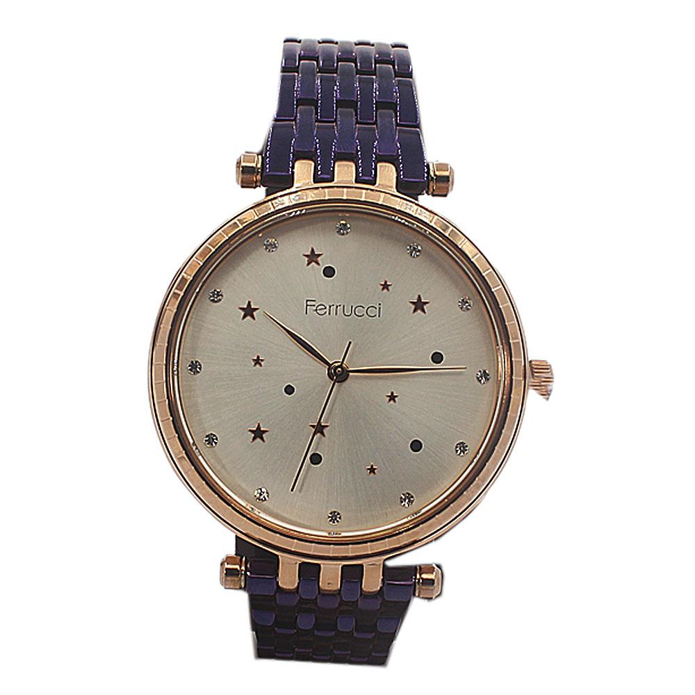 Star Purple Mesh Fashion Ladies Watch