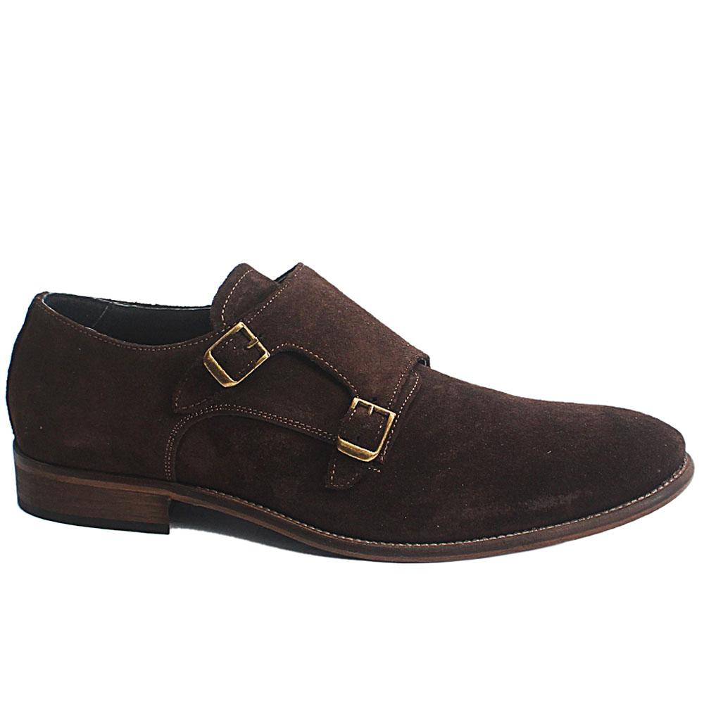 Coffee Dario Italia Suede Leather Men Oxford