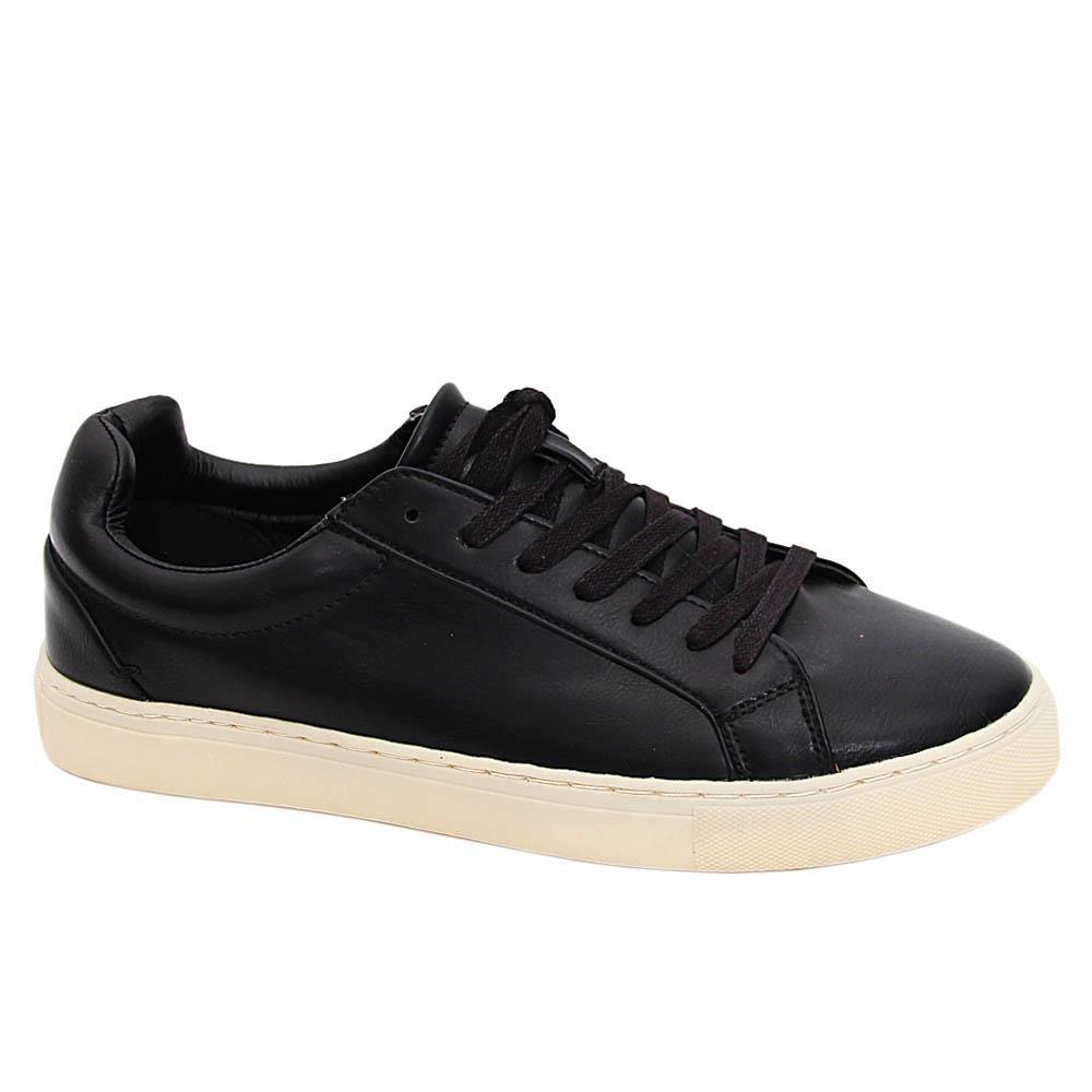 K Geiger Black Howard Leather Sneakers