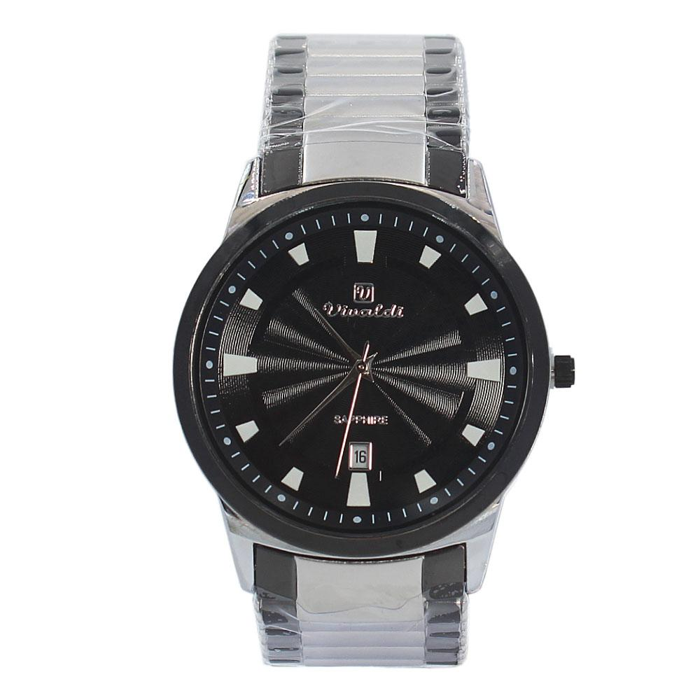 Silver Black Karstan Stainless Steel Fashion Watch