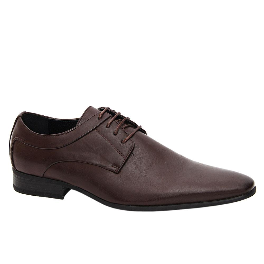 Brown Smith Leather Men Derby Shoes