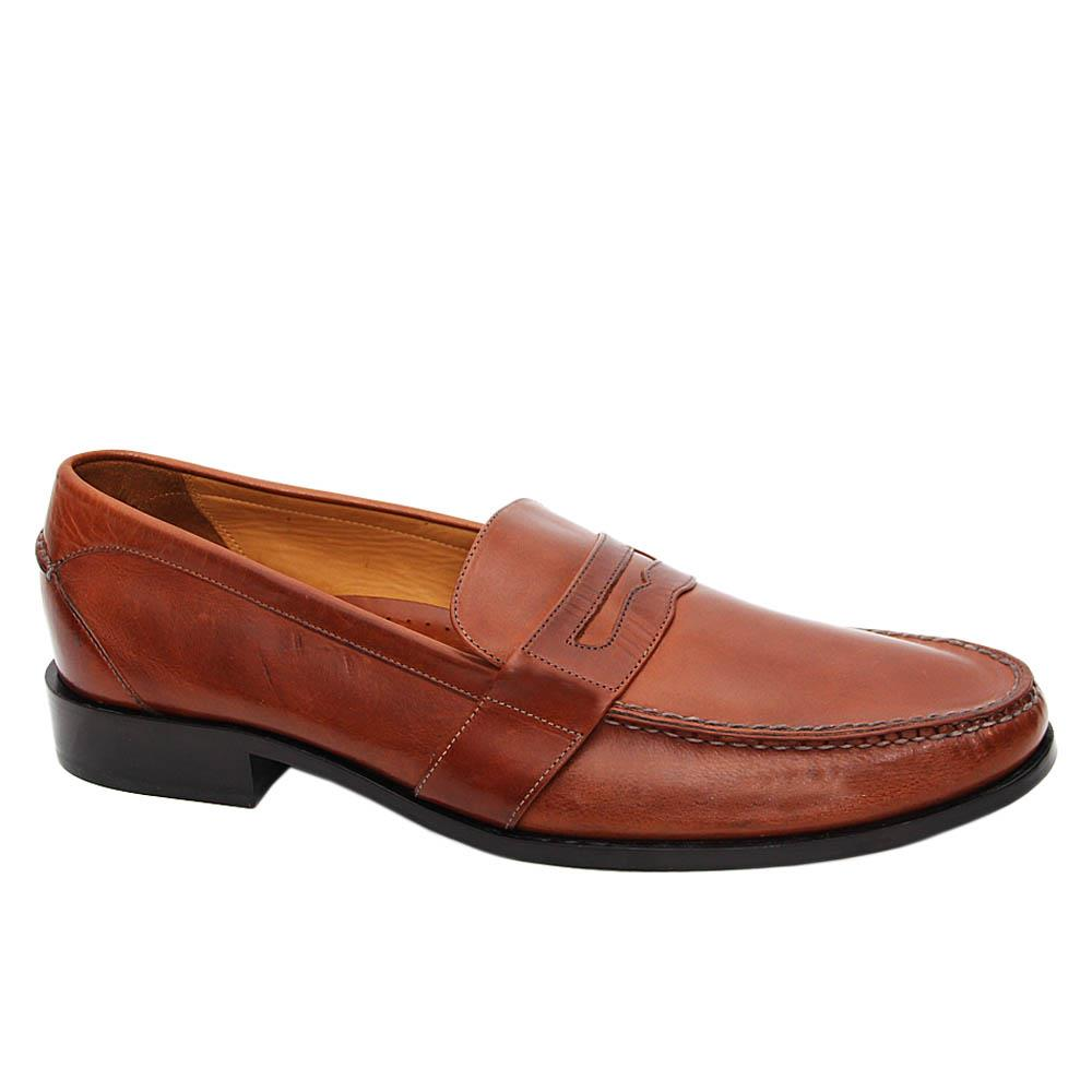 Brown Ronnie Leather Penny Loafers