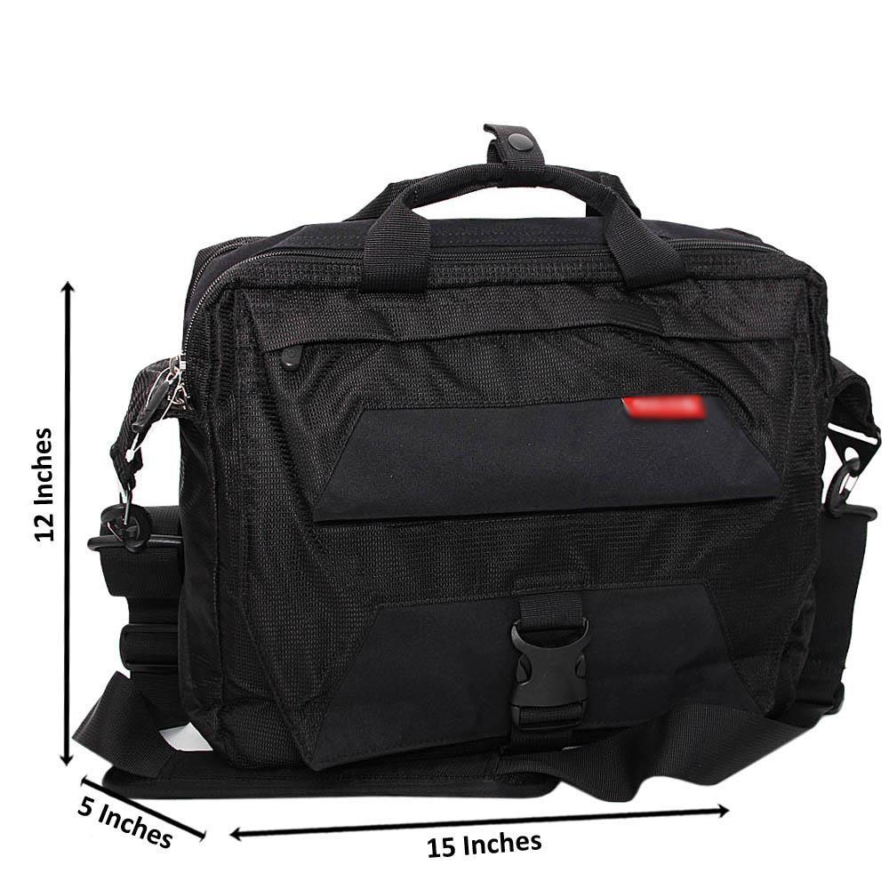Black Ethan Fabric Briefcase