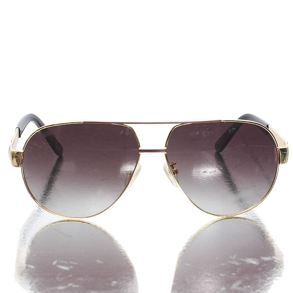 Gold Black Brown LenAviator Sunglasses