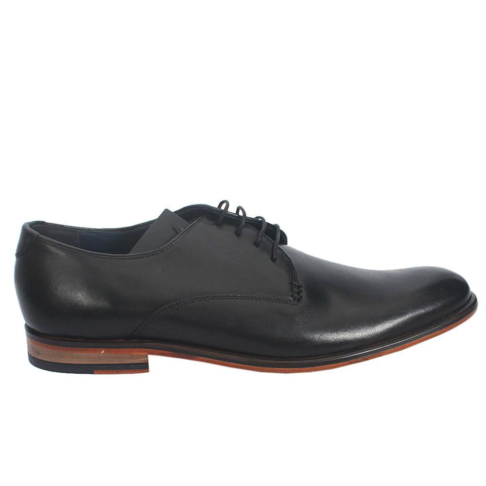 M & S Autograph Black Leather Men Shoe Sz 46
