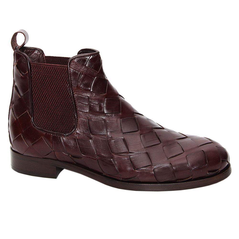 Coffee Estevao Italian Leather Chelsea Boot