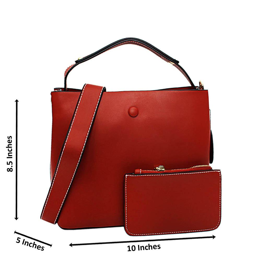 Tan Brown Ulani Leather Medium Top Handle Handbag