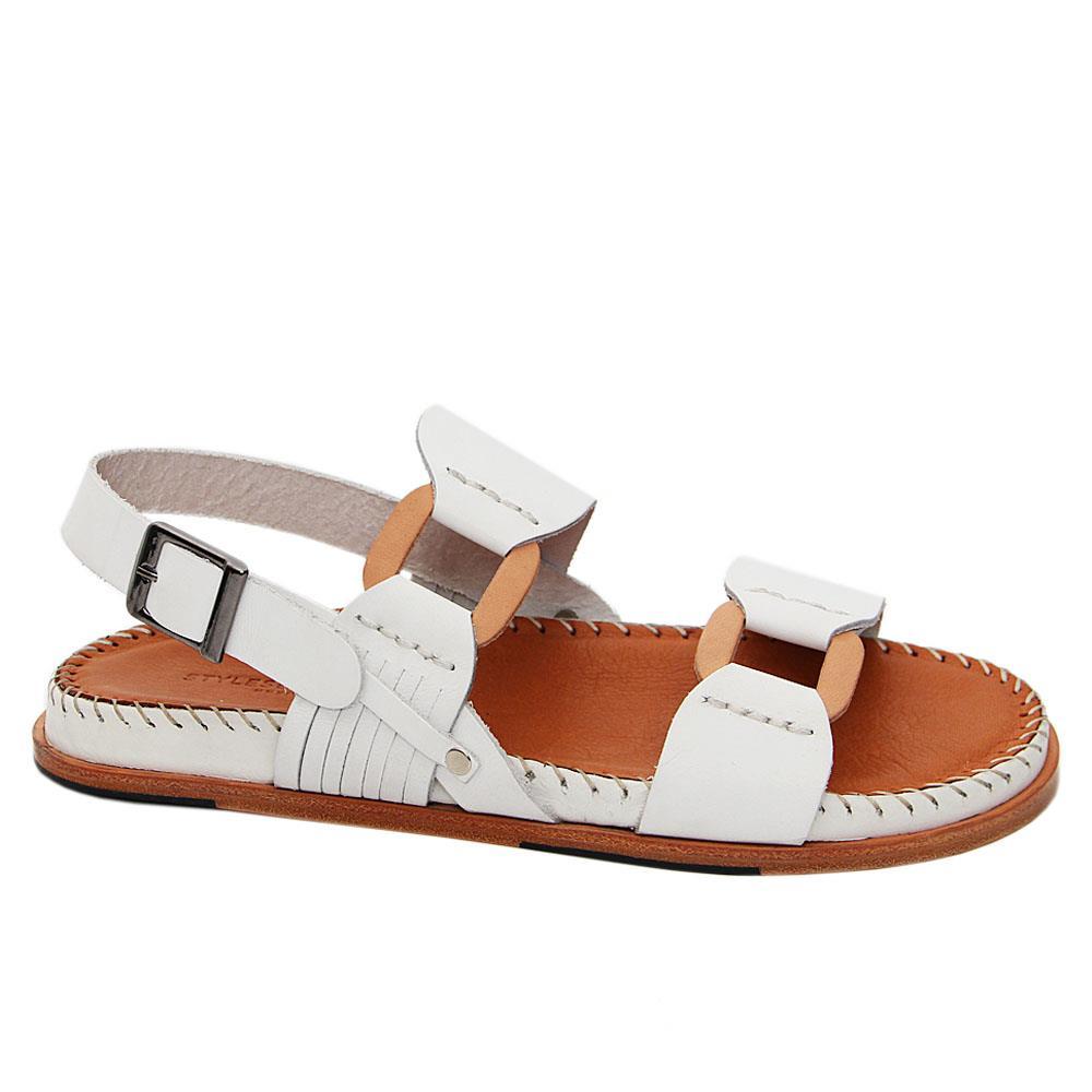 White Mario Angelo Italian Leather Sandals