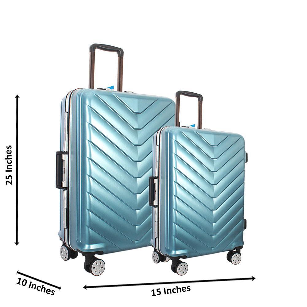 Sky Blue 25 inch Wt 20 inch 2 in 1 Hardshell Luggage Set Wt TSA Lock