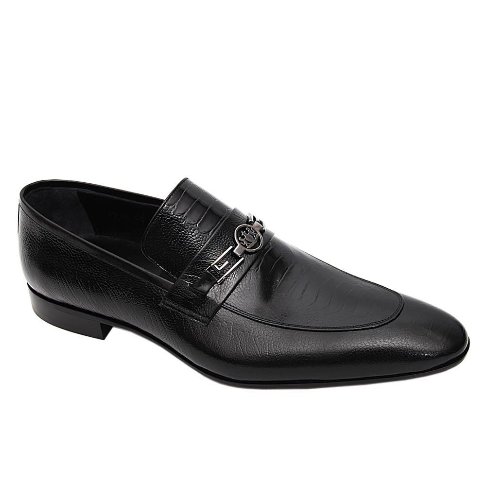 Black Pasqual Italian Leather Loafers