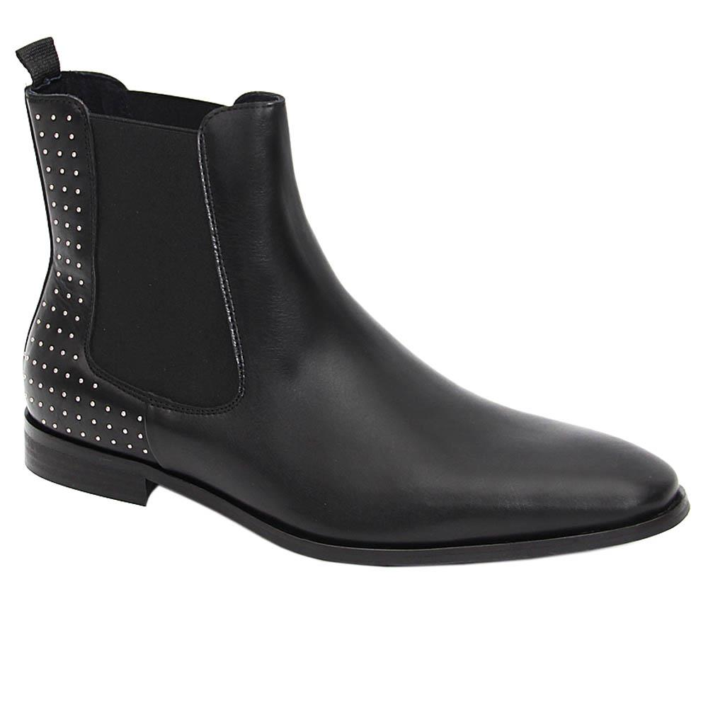 K Geiger Black Rory Lenon Studded Leather Chelsea Boot