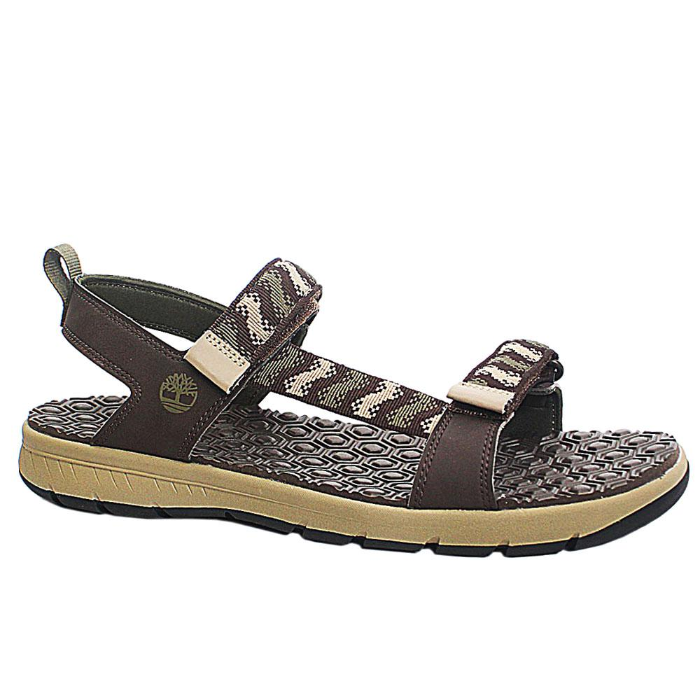 Brown Fabric G Island Men Sandals