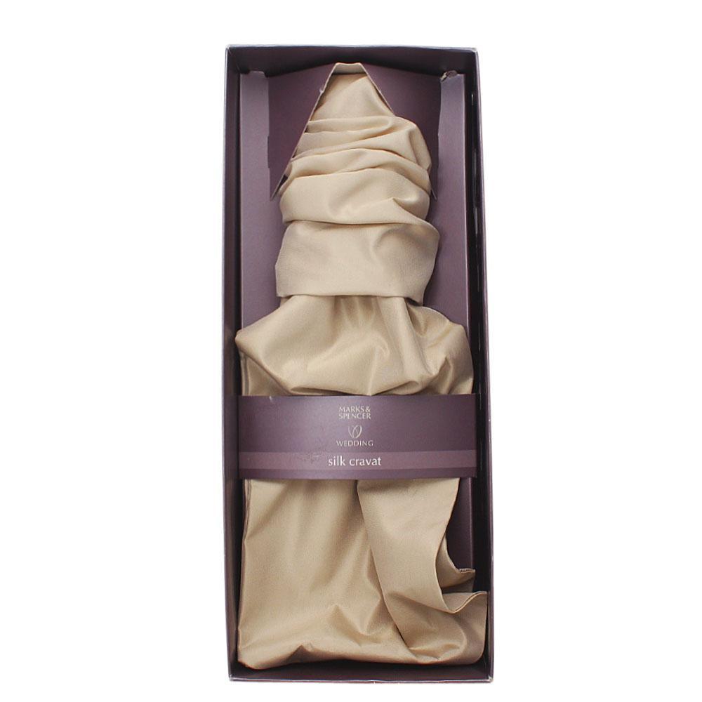 Marks & Spencers Champagne Silk Cravat