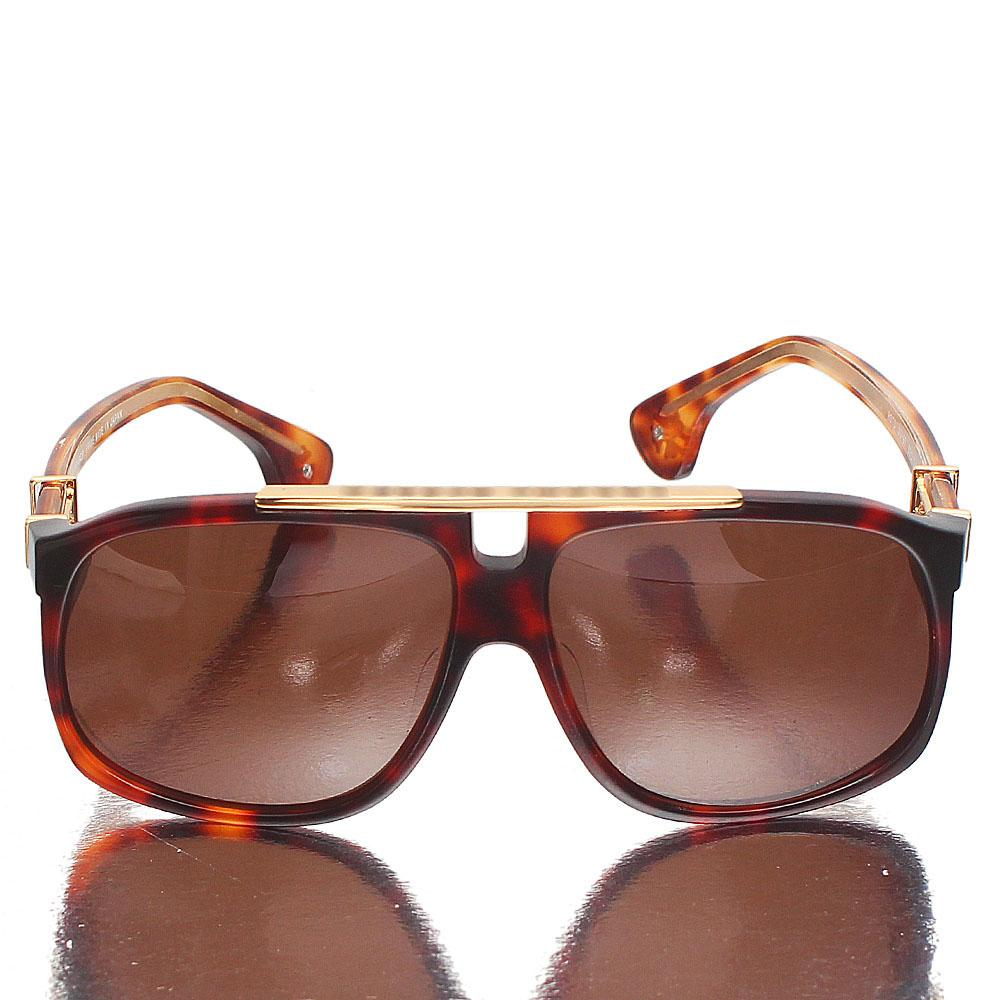 Gold Brown Pilot Brown Lens Sunglasses
