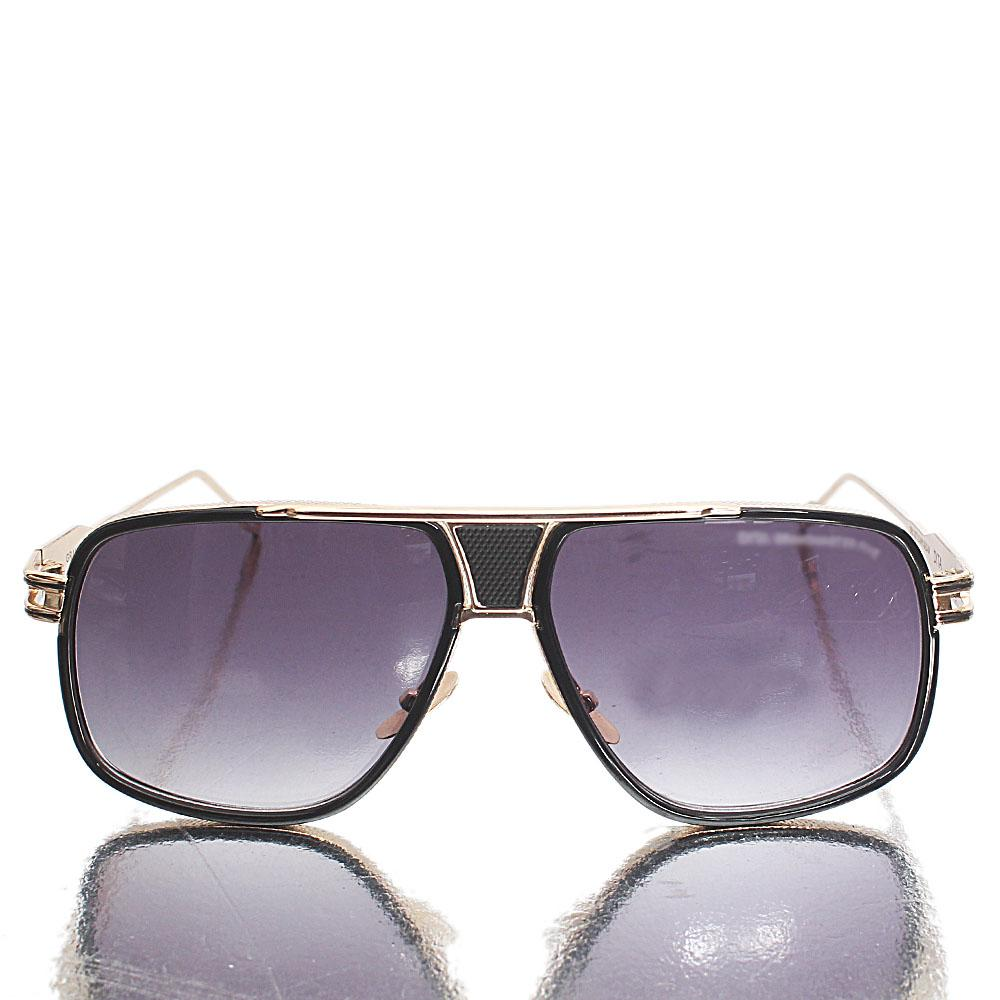 Gold Dark Lens Aviator Sunglasses