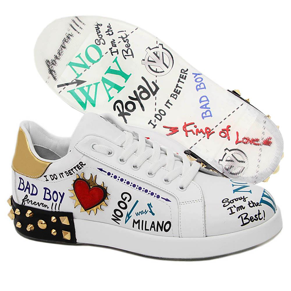 White-Reagan-Graphic-Print-Italian-Leather-Unisex-Sneakers