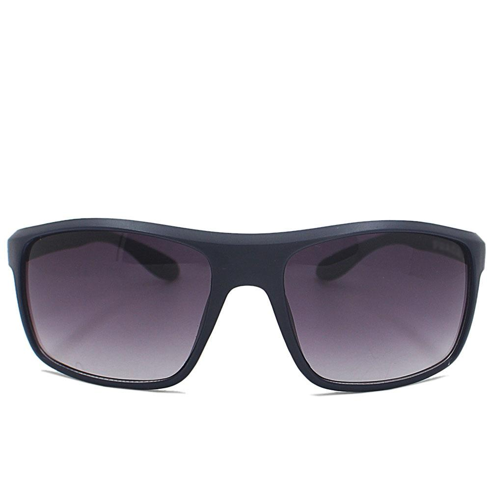 Navy Curved Narrow Fit Sunglasses
