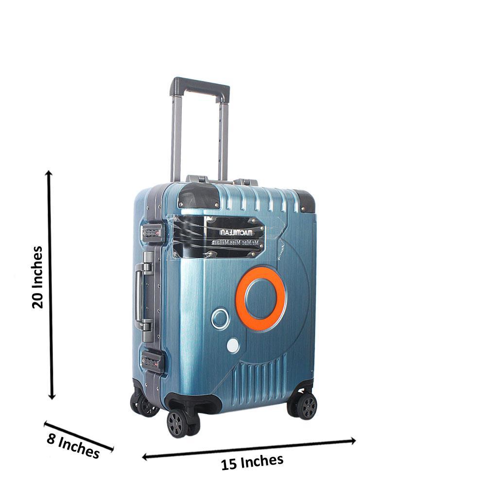 Turquoise Blue 20 Inch Mr& Mrs Hardshell Carry On Luggage Wt TSA Lock