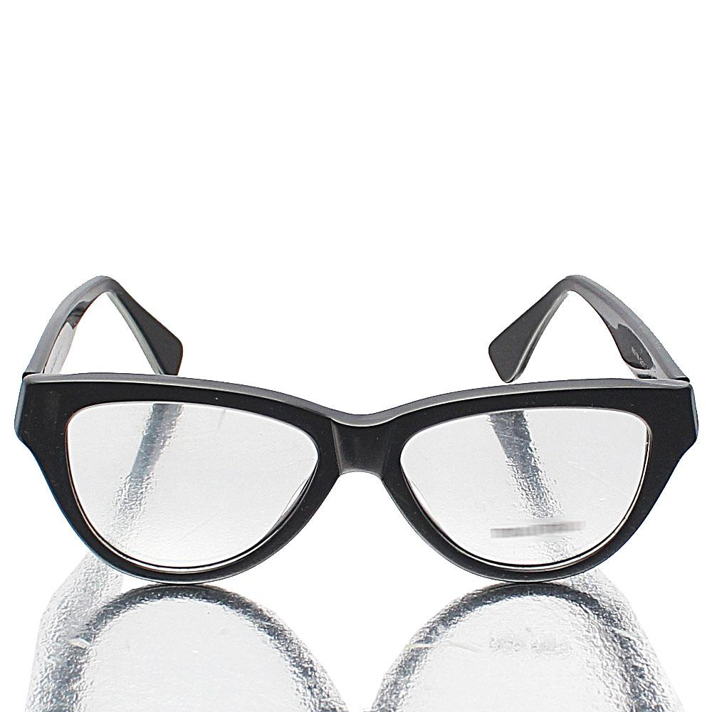Black Cat Eye Transparent Lens Glasses