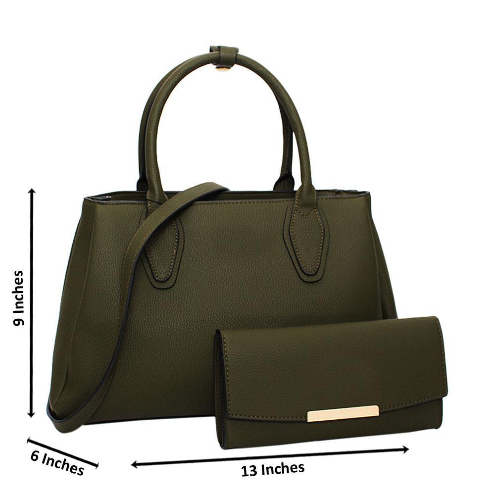Army-Green-Tessa-Leather-Medium-Tote-Handbag