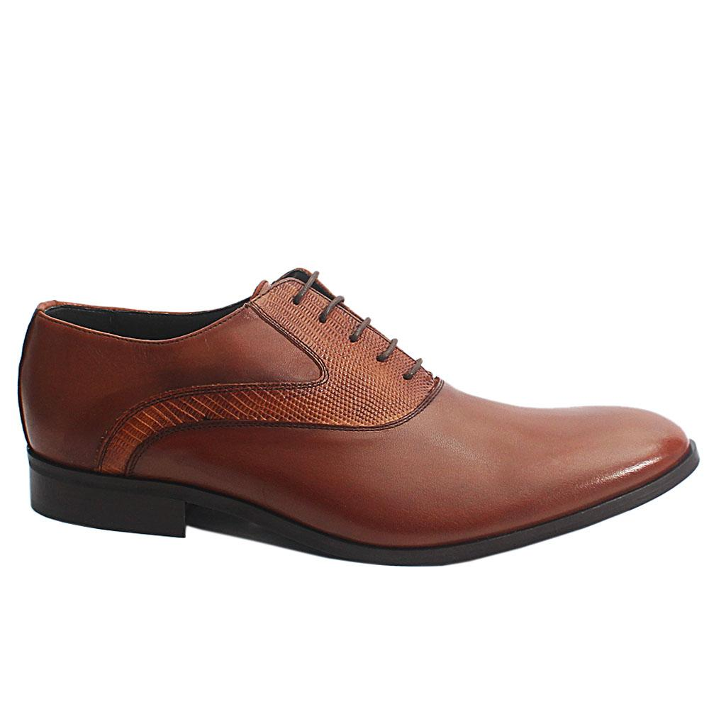 Brown Joachim Italia Leather Men Oxford Shoes
