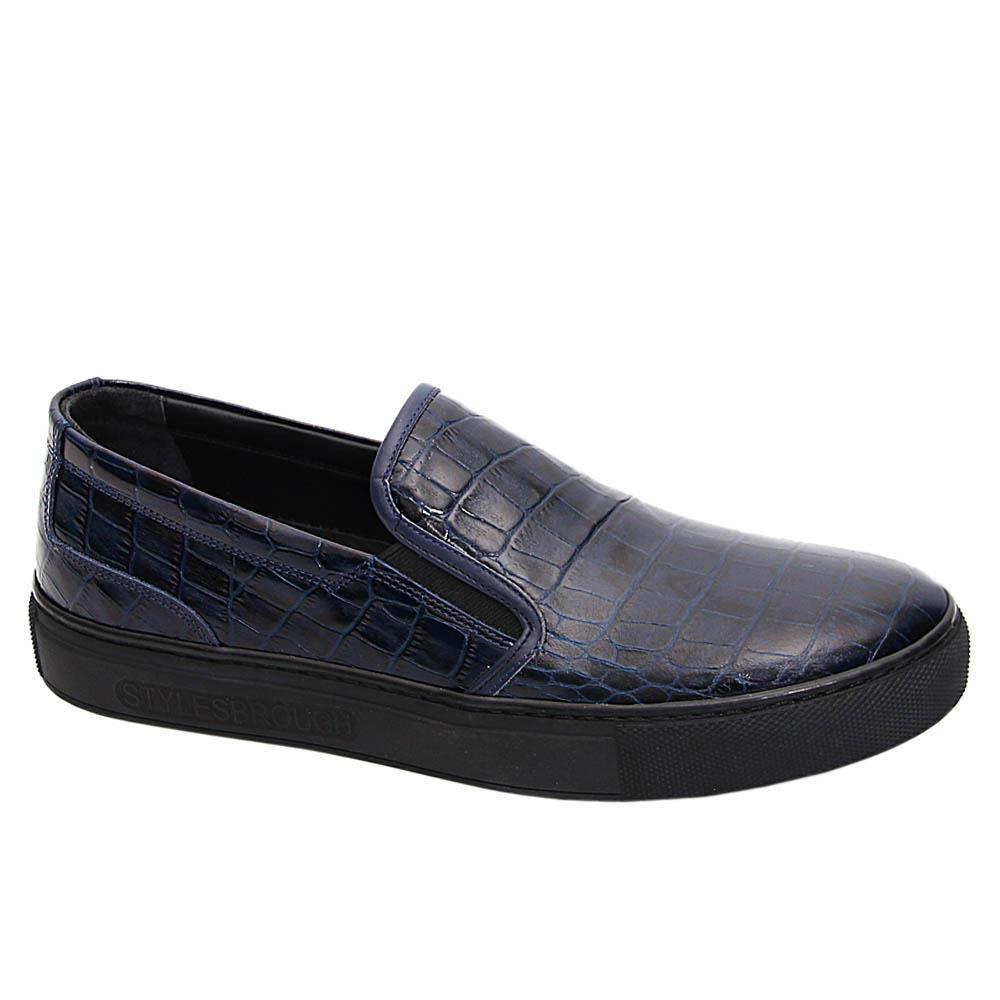 Dark Navy Tyler Keith Italian Leather Sneakers