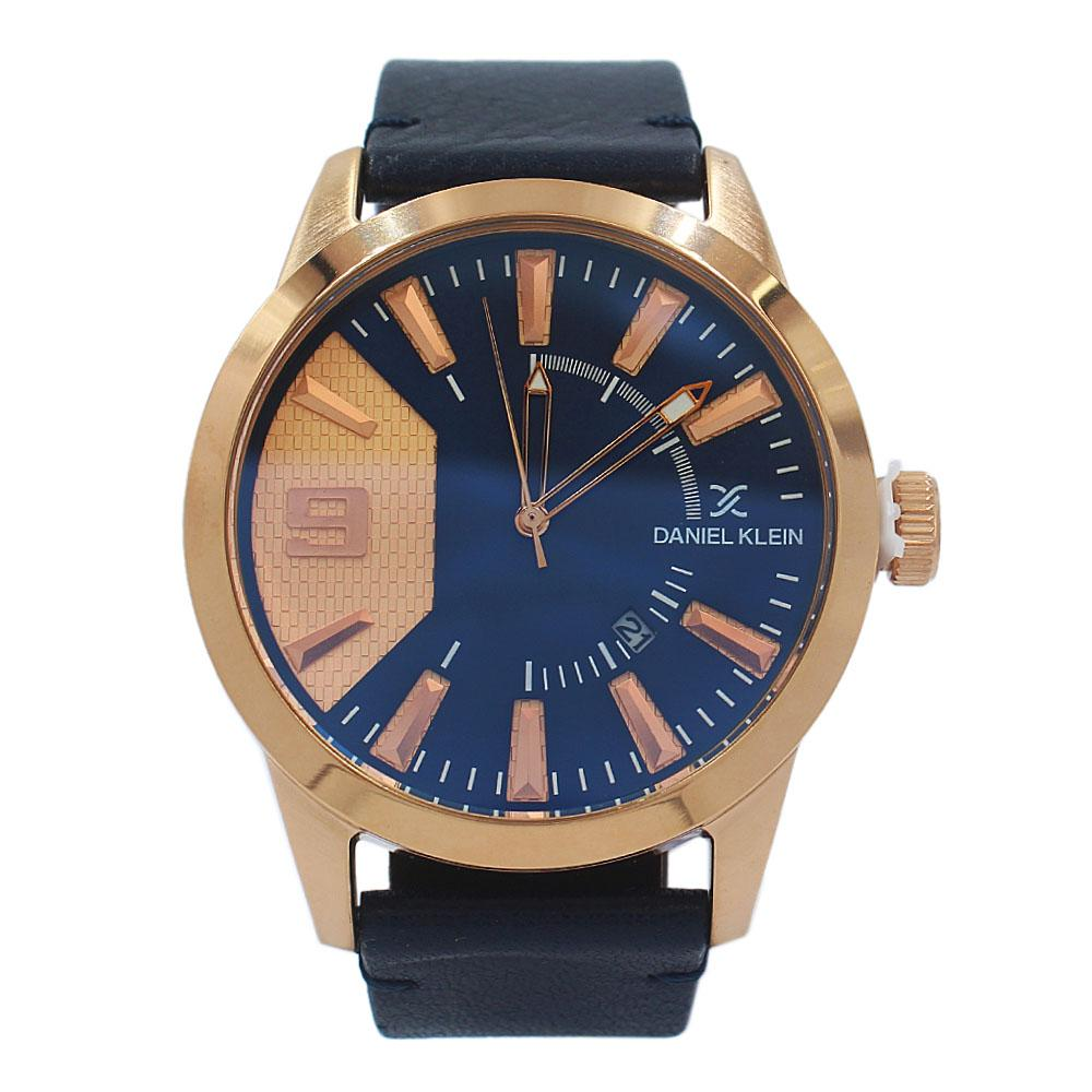 Daniel Klein Luis Rose Gold Navy Leather Fashion Series Watch