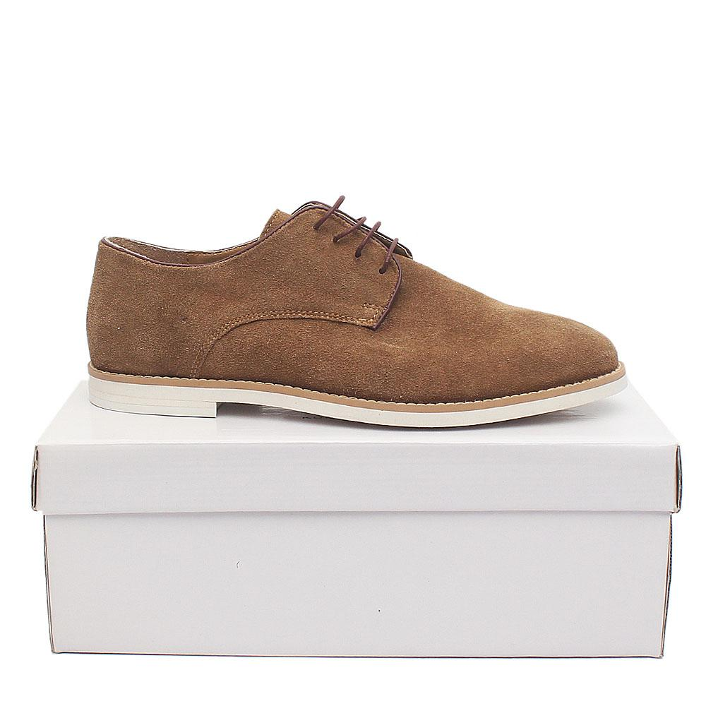 Kurt Geiger Khaki Suede Leather Men Shoe