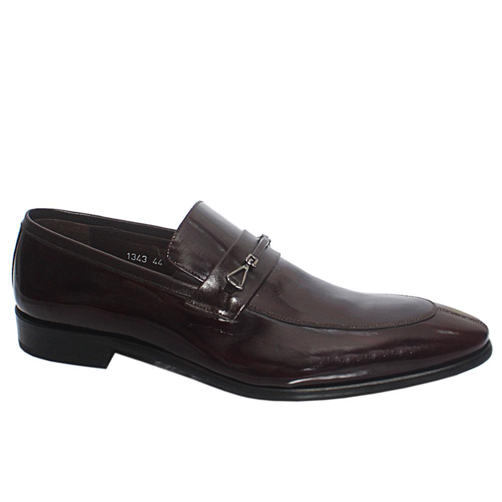 Coffee Luca Italian Patent Leather Penny Loafers