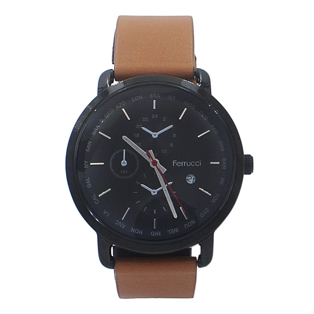 Adora Brown Leather Watch