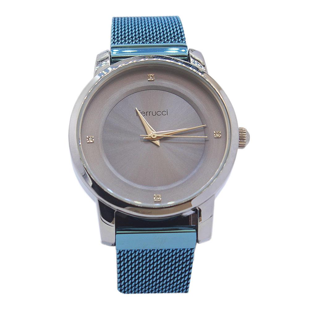 Ferrucci Blue Karstan Stainless Steel Fashion Ladies Watch
