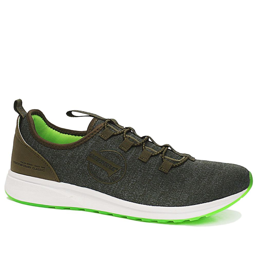 Sz 43 Carrera Green Low Knit Fabric Breathable Sneakers
