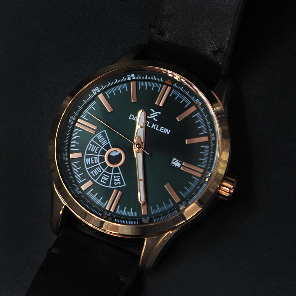 Daniel Klein Vegas Fashion Watch wt Black Leather Strap