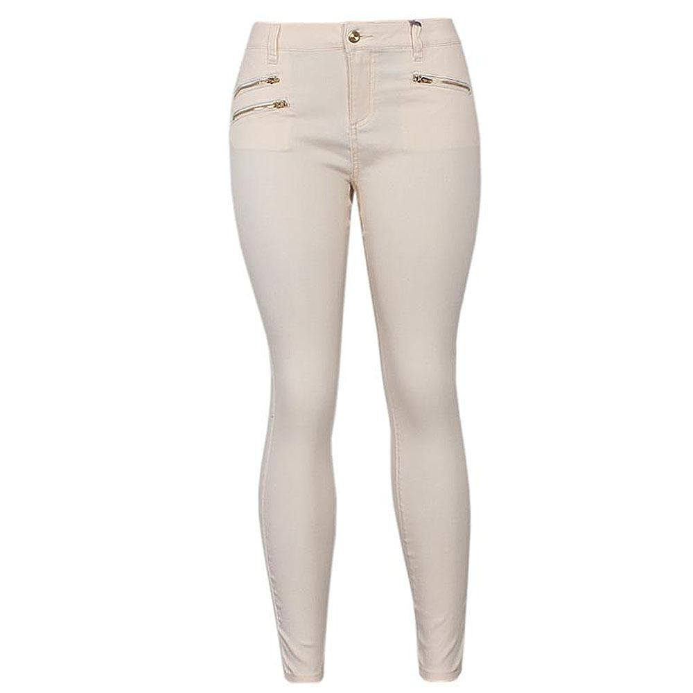Peach Ladies kinny Denim Trouser Uk 10 L 37.5