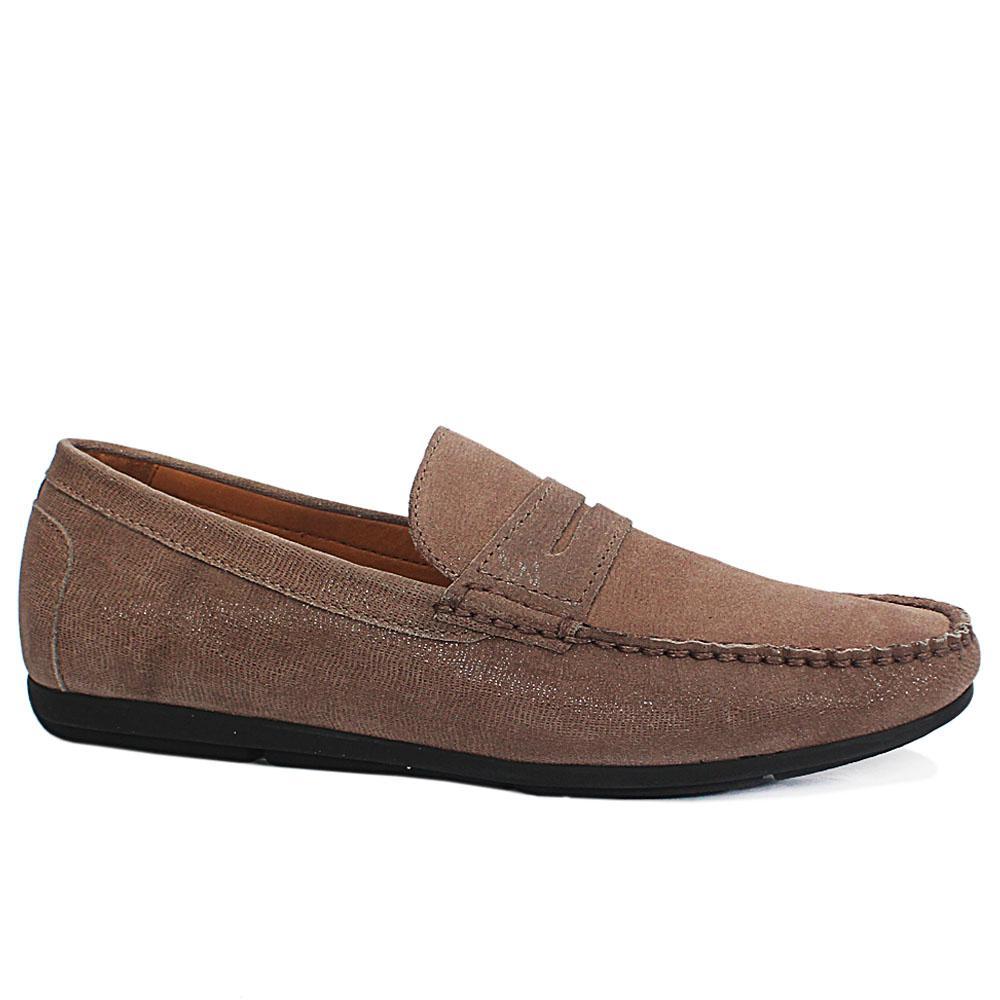 Gen Khaki Shining Leather Drivers Shoe