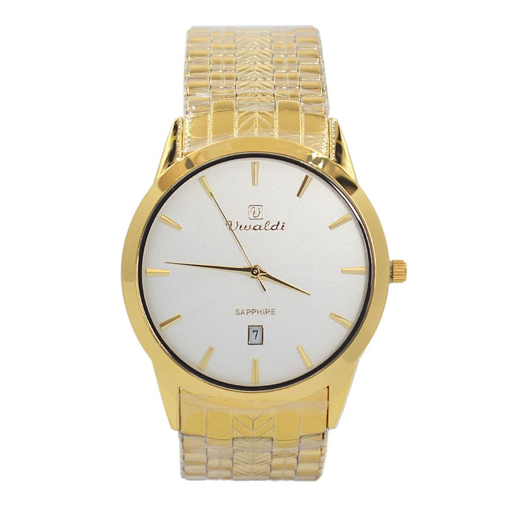 Gold Aleta Stainless Steel Fashion Watch