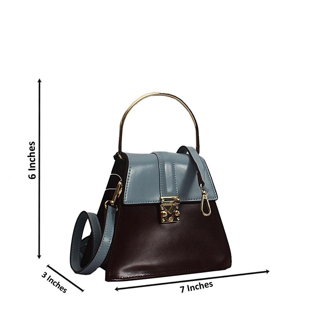 Blue Wine Nessa Montana Leather Mini Top Handle Handbag