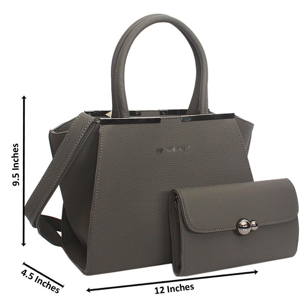 Gray Kate Tuscany Leather Tote Handbag
