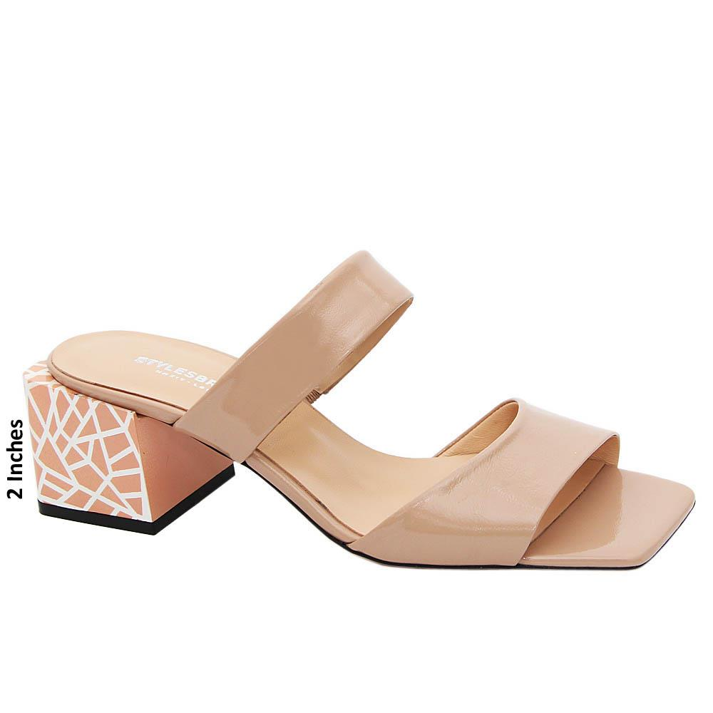 Beige Eulalia Tuscany Leather Mid Heel Mule