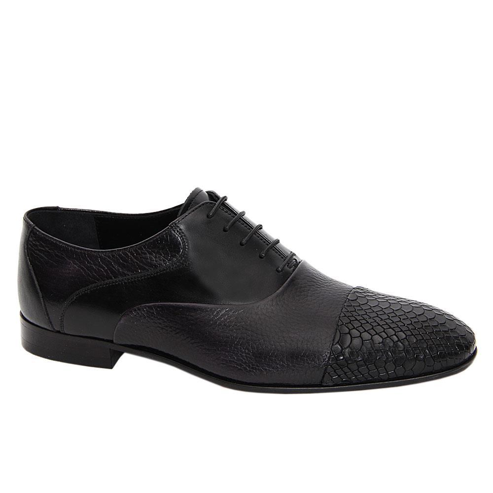 Black Verratti Italian Leather Oxford Shoe
