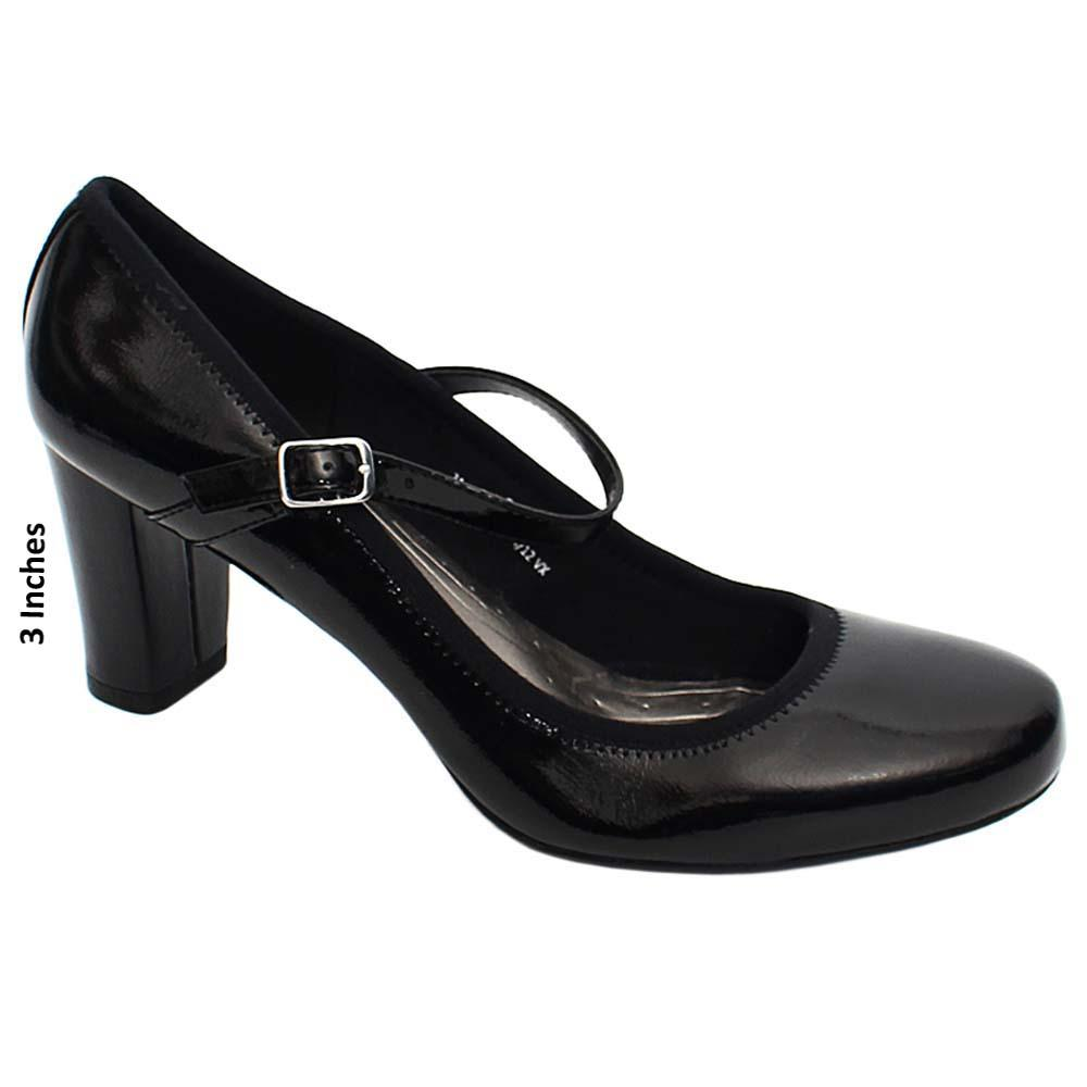 Black Taylor Patent Leather Ladies High Heel Shoe